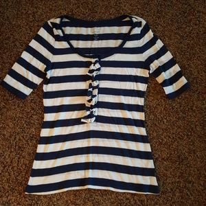 Blue and white striped Old Navy blouse